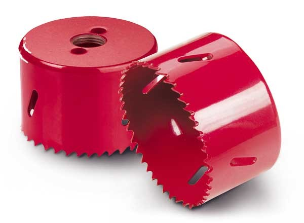 Bi - Metal M3/M42 High Speed Steel Hole Saw For Metal Sheet Red Color